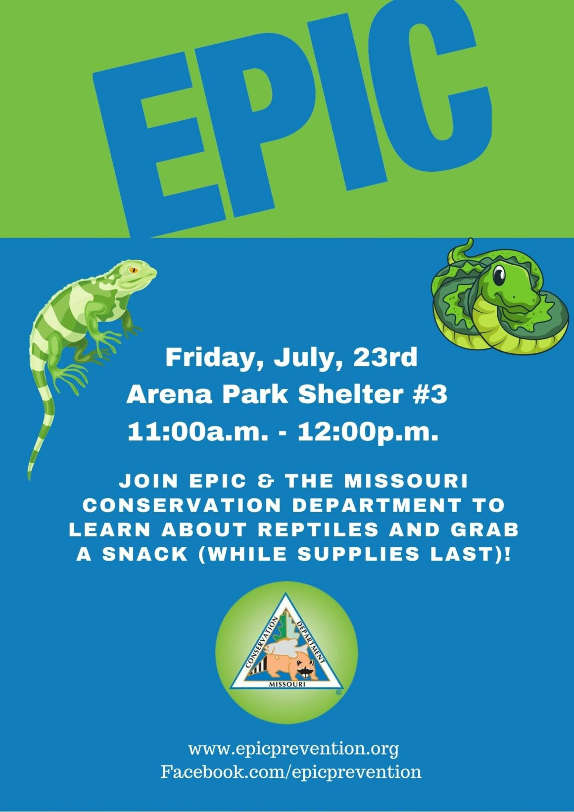 Join us for EPIC Fun (it's free!)!